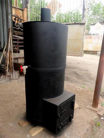 Печка из трубы в баню своими руками чертежи