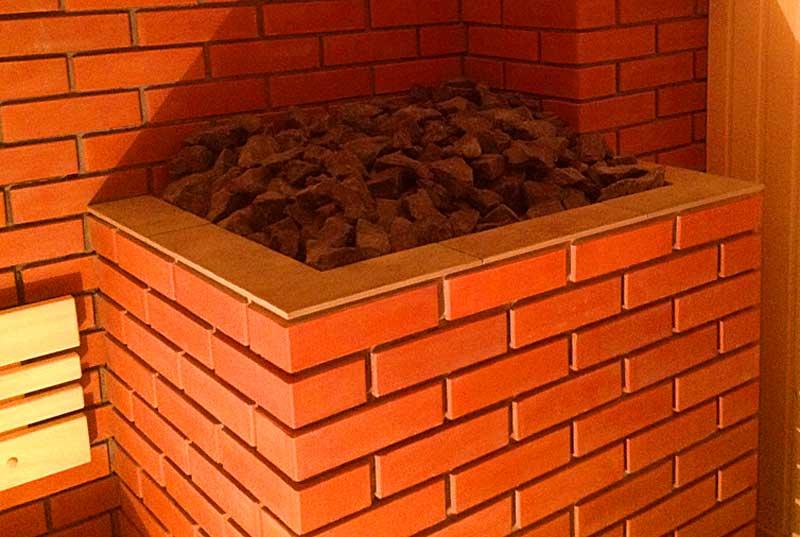 Каменка-печи-обложенной-кирпичом