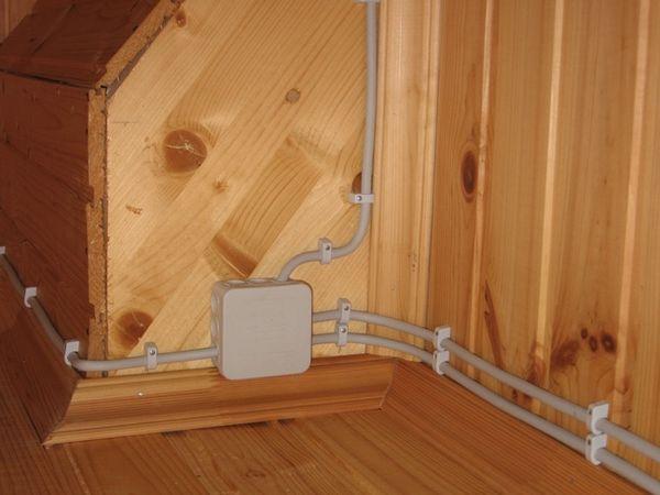 Электропроводка в деревянной бане своими руками