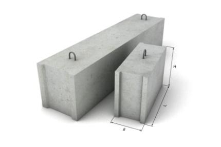 Бетонные блоки под фундамент ФБС