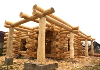 строительство бани из бревна своими руками
