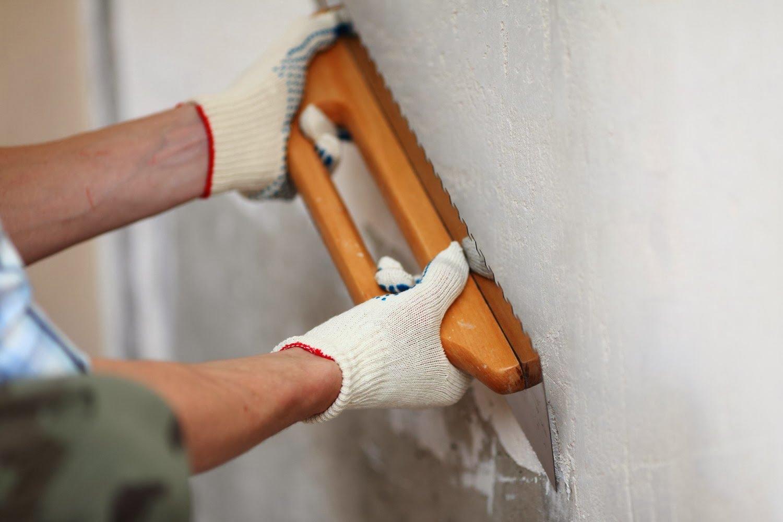 Штукатурим стены под покраску своими руками 12