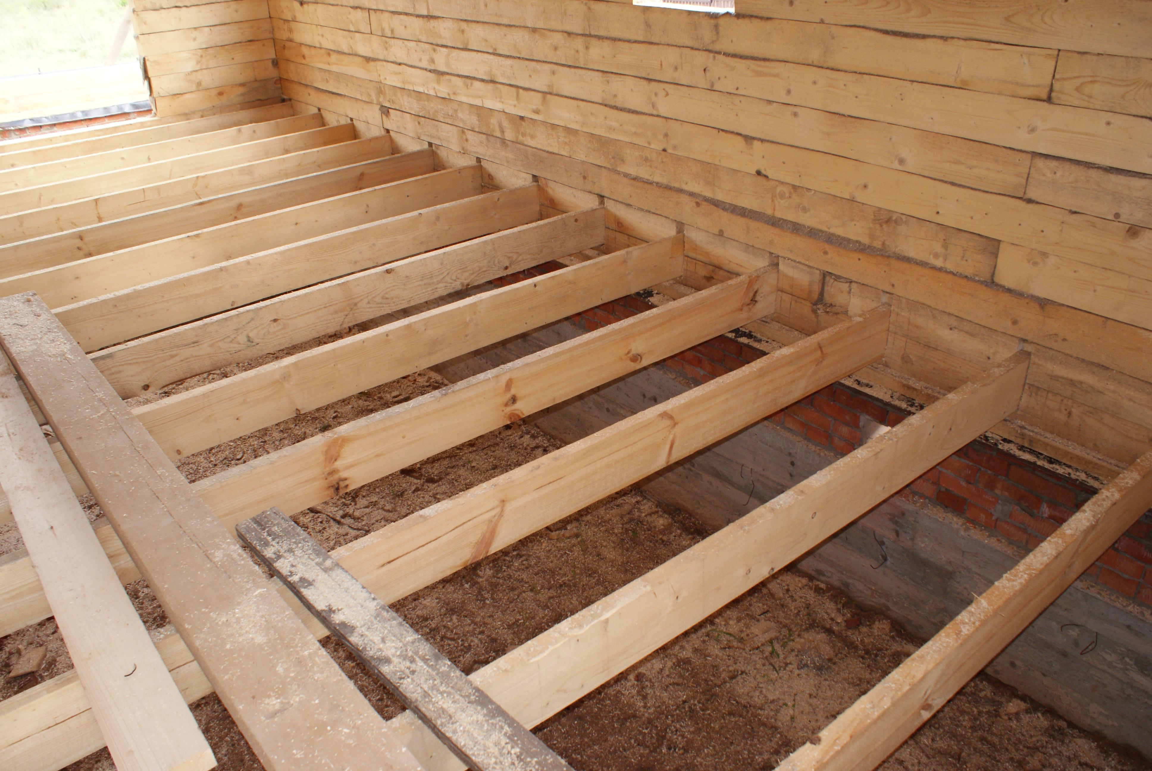 деревянного пола по лагам
