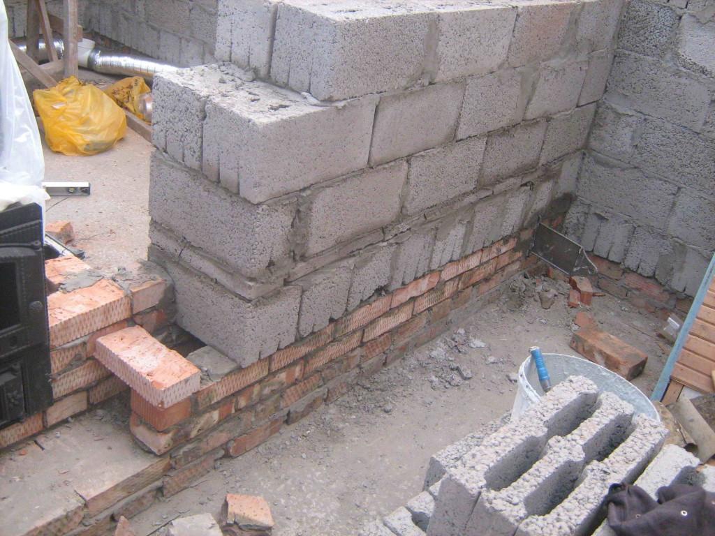 Стена из керамзитобетона своими руками 24