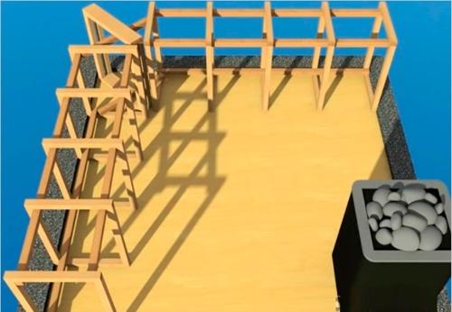 Начальный этап сооружения каркаса