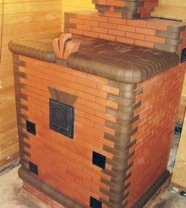 Печь с закрытой каменкой