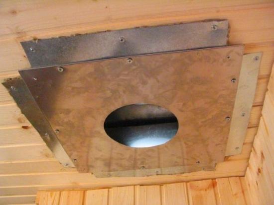 Короб под дымную трубу