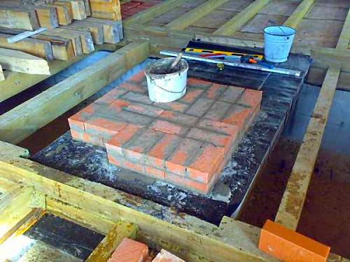 Подготовка монолитного основания под печь