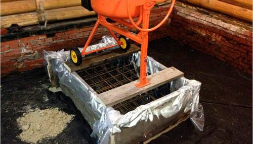 Делаем фундамент под кирпичную печь