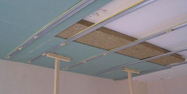 Комбинированный способ звукоизоляции потолка