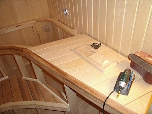 Как делать полку в бане своими руками 233
