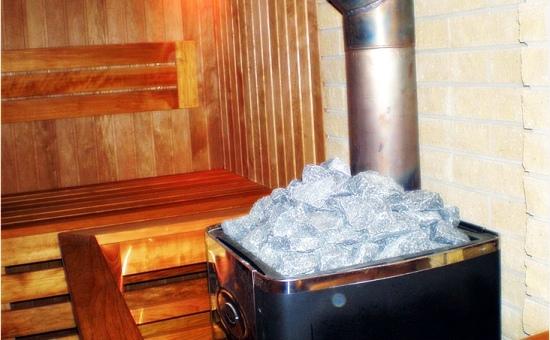 Современная печь каменка