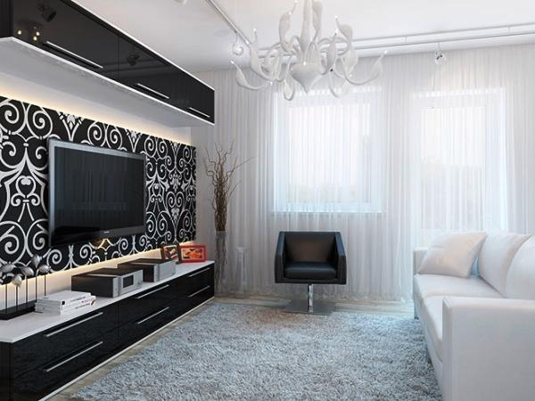 Дизайн зала минимализм