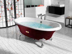 акриловой и чугунной ванны