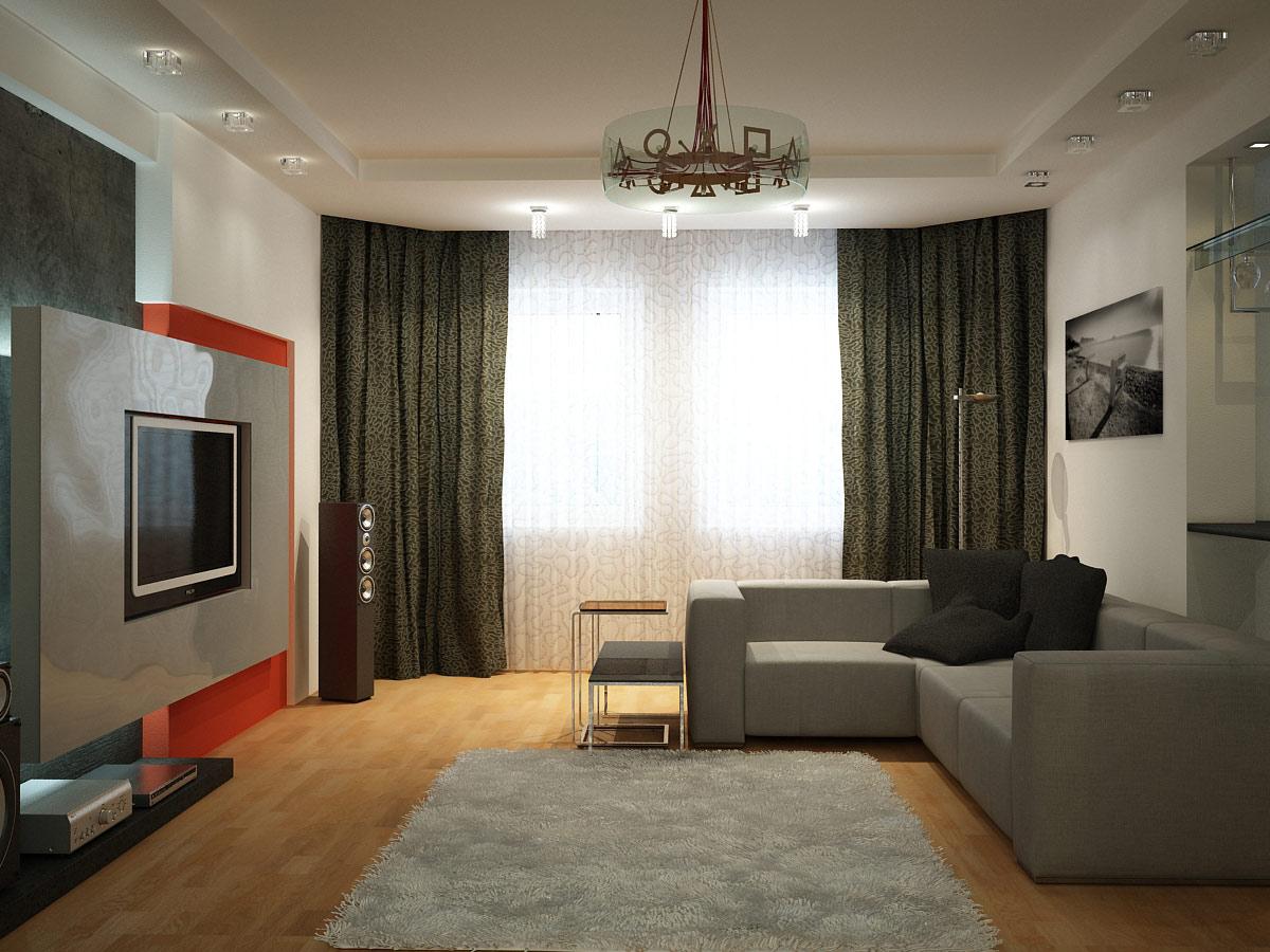 Ремонт в простой квартире в зале